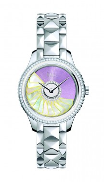 DIOR VIII GRAND BAL PLISSE SOLEIL STEEL MOP AND DIAMONDS 36MM - STEEL BRACELET Weight on left