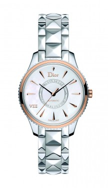 DIOR VIII MONTAIGNE STEEL AND PINK GOLD BEZEL 36MM