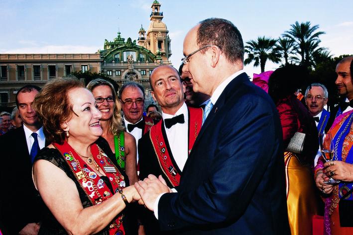 Arlette Mabardi, Yam Attalla et SS Albert de Monaco