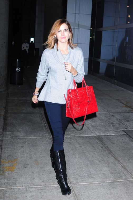 Camilla Belle Arrives at JFK