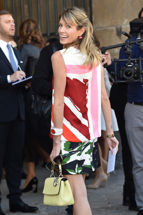 Celebrity Sighting At Paris Fashion Week, Womenswear SS 2015 : September 26th