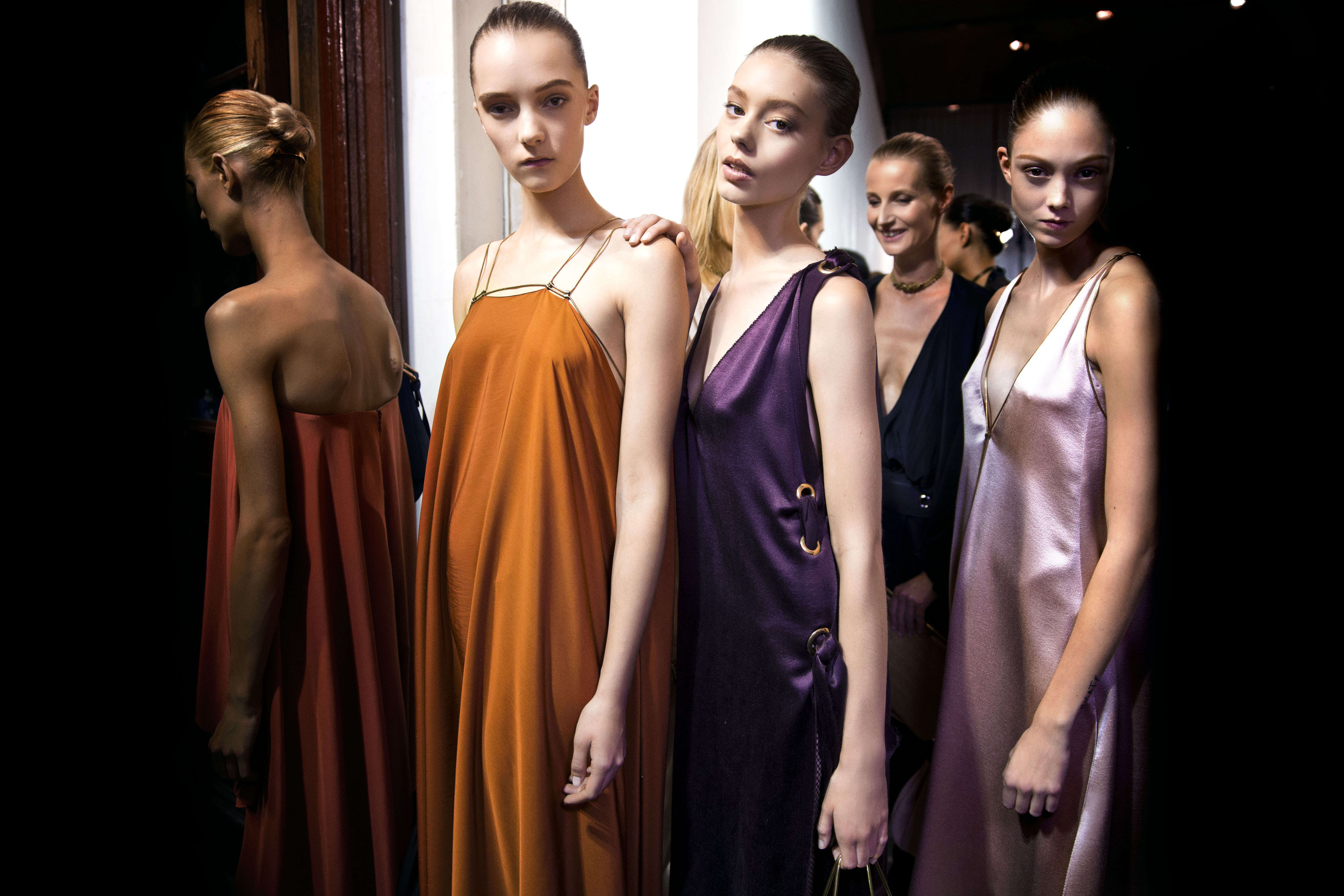 Lanvin backstage at Milan Spring Summer 2015 women s ready-to-wear  collections. 53d6e5f6dc9