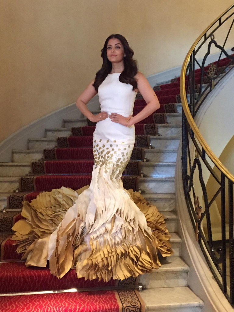 Mrs Aishwarya Rai in Georges Chakra Couture SS 2015 -  Cannes 2015