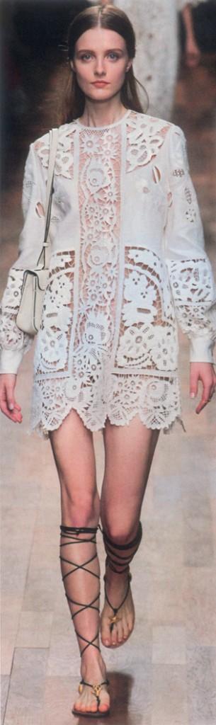 Valentino white lace