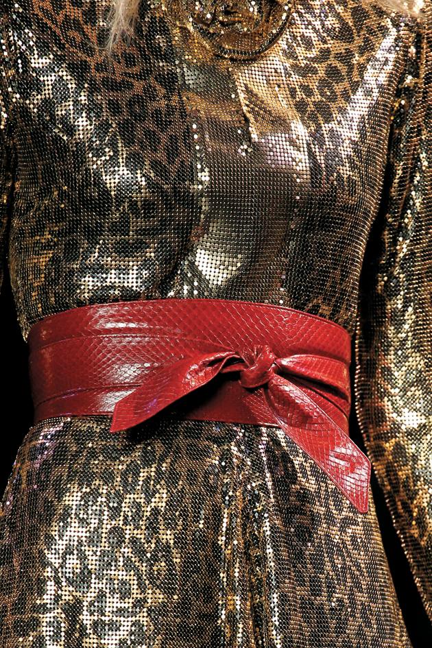 saint lautent knot belt