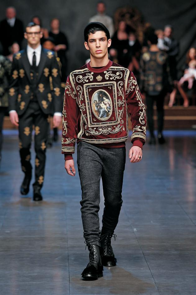 une homme -icone de Dolce   Gabbana hiver 2016 - Prestige Magazine b06ed30119ae