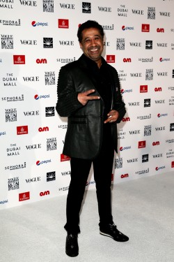 DUBAI, UNITED ARAB EMIRATES - OCTOBER 30: Singer Cheb Khaled attends the Gala event during the Vogue Fashion Dubai Experience 2015 at Armani Hotel Dubai on October 30, 2015 in Dubai, United Arab Emirates. (Photo by John Phillips/Getty Images for Vogue and The Dubai Mall) *** Local Caption *** Cheb Khaled