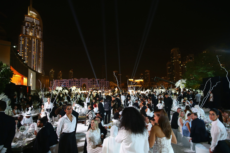 DUBAI, UNITED ARAB EMIRATES - OCTOBER 30: Guests attend the Gala event during the Vogue Fashion Dubai Experience 2015 at Armani Hotel Dubai on October 30, 2015 in Dubai, United Arab Emirates. (Photo by Vittorio Zunino Celotto/Getty Images for Vogue and The Dubai Mall)