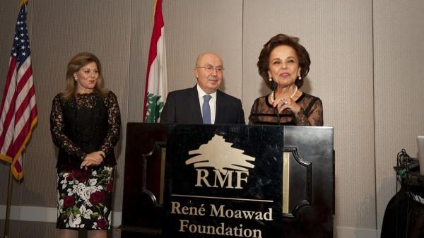 Washington Gala Dinner - Mrs.Nayla Moawad and the Lebanese Ambassador Antoine Chedid