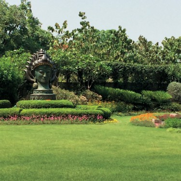 Garden at the Leela Palace Hotel in Delhi