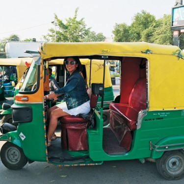 Traditional Auto Rickshaw Tuk Tuk Taxi in India
