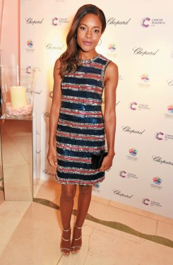 LONDON, ENGLAND - JANUARY 14: Naomie Harris attends The Lady Garden Gala hosted by Chopard in aid of Silent No More Gynaecological Cancer Fund and Cancer Research UK at Claridge's Hotel on January 14, 2016 in London, England. (Photo by David M. Benett/Dave Benett/Getty Images)
