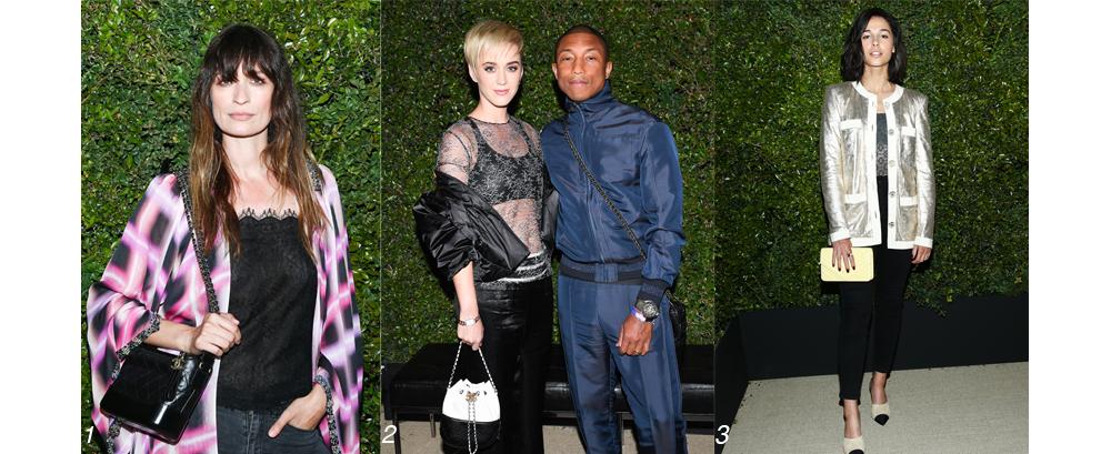 34ef15d45 Caroline De Maigret and Pharrell Williams hosted a dinner in celebration of Chanel s  Bag